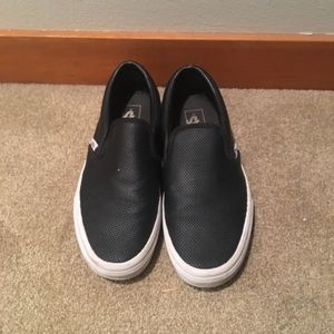 Vans Shoes - Women's black leather Vans size 8.5